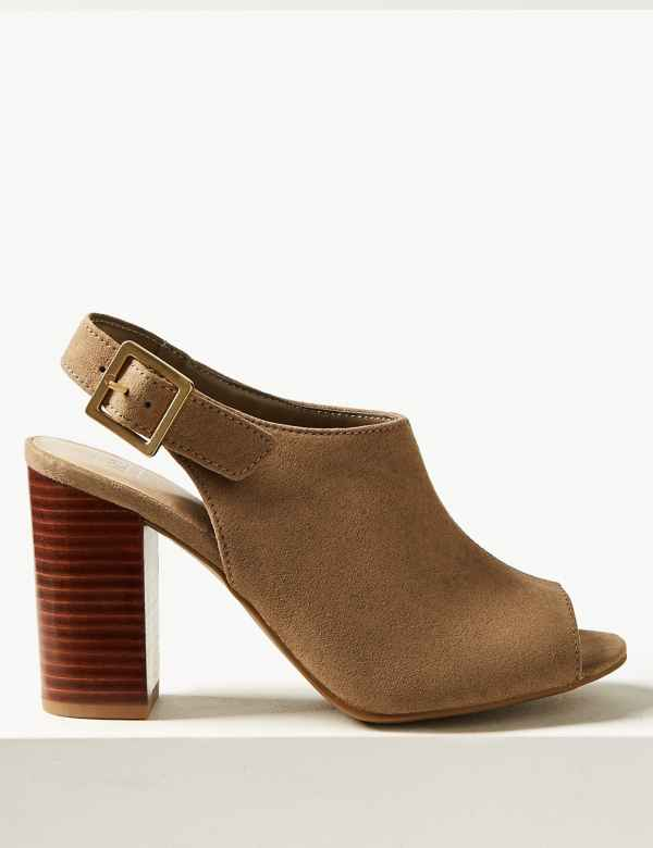 2e44164400 High Front Block Heel Slingback Sandals