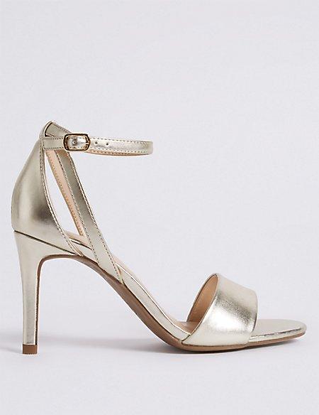 Stiletto Heel Two Part Sandals