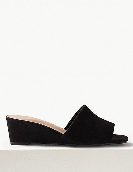 Wedge Heel Mule Shoes