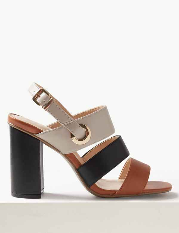 93f719d5acf1 Block Heel Multi Strap Sandals