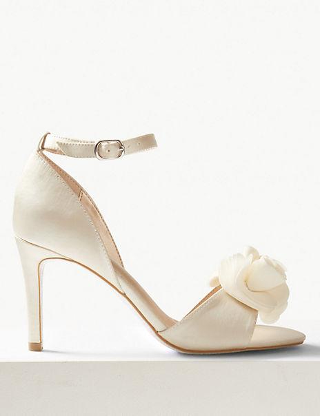 Stiletto Heel Ankle Strap Sandals