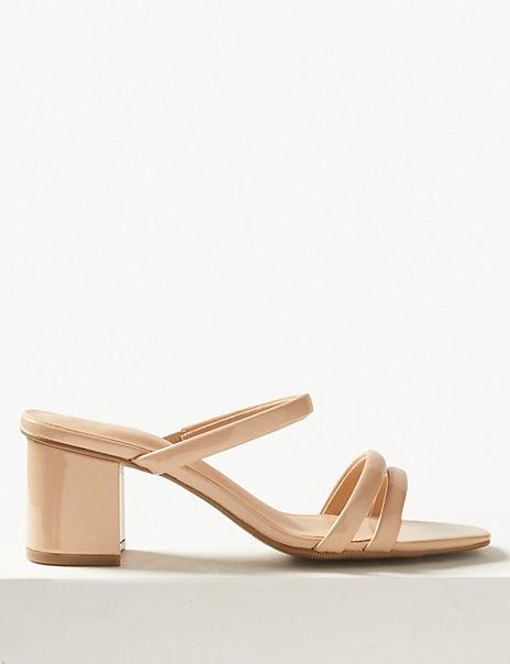 Multi Strap Mule Sandals