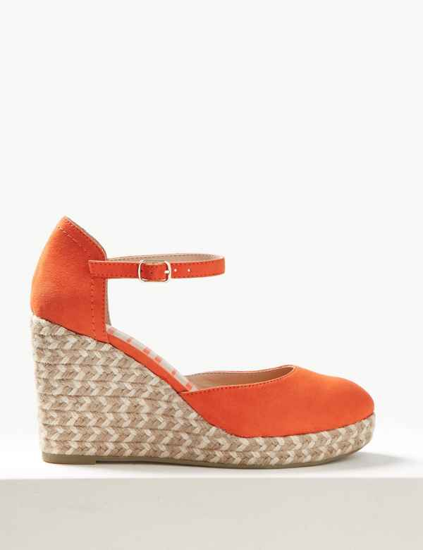 372936a130d Wedge Heel Almond Toe Espadrilles