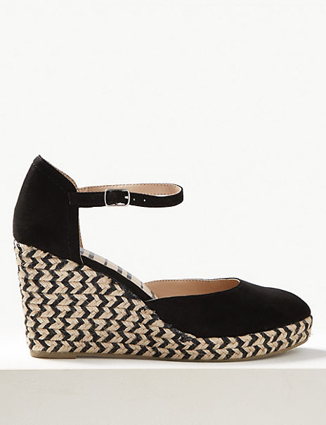 Wedge Heel Almond Toe Espadrilles