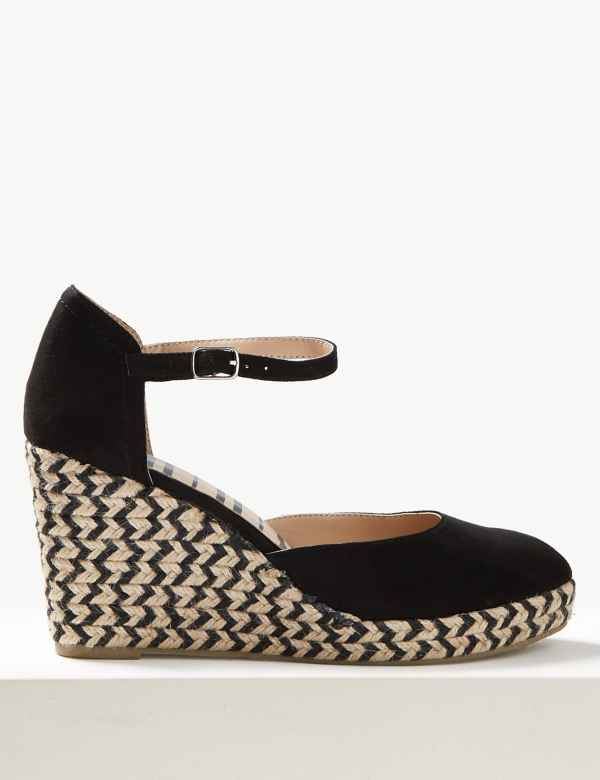 b45b7edaa81 Wedge Heel Almond Toe Espadrilles