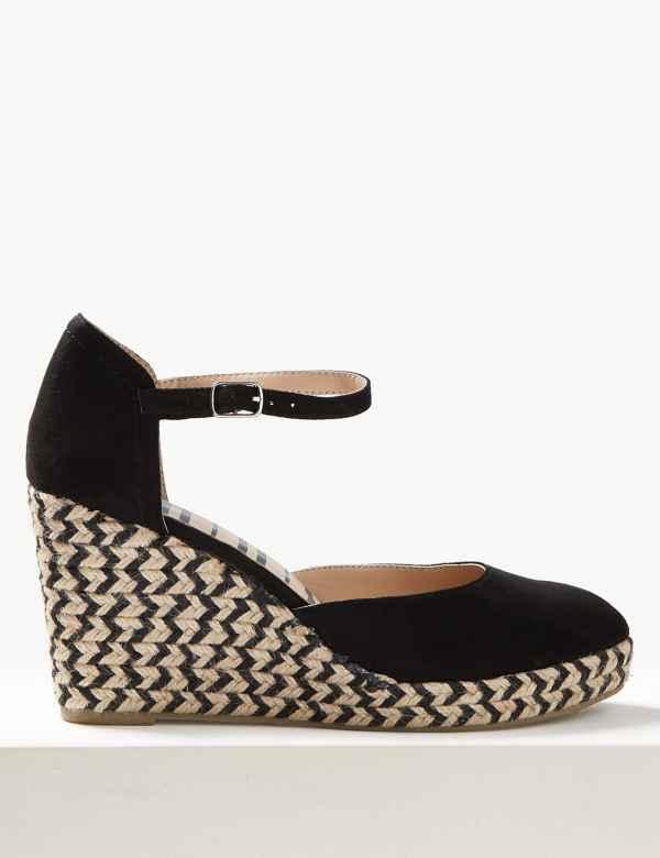 2f86722373 Wedge Heel Almond Toe Espadrilles