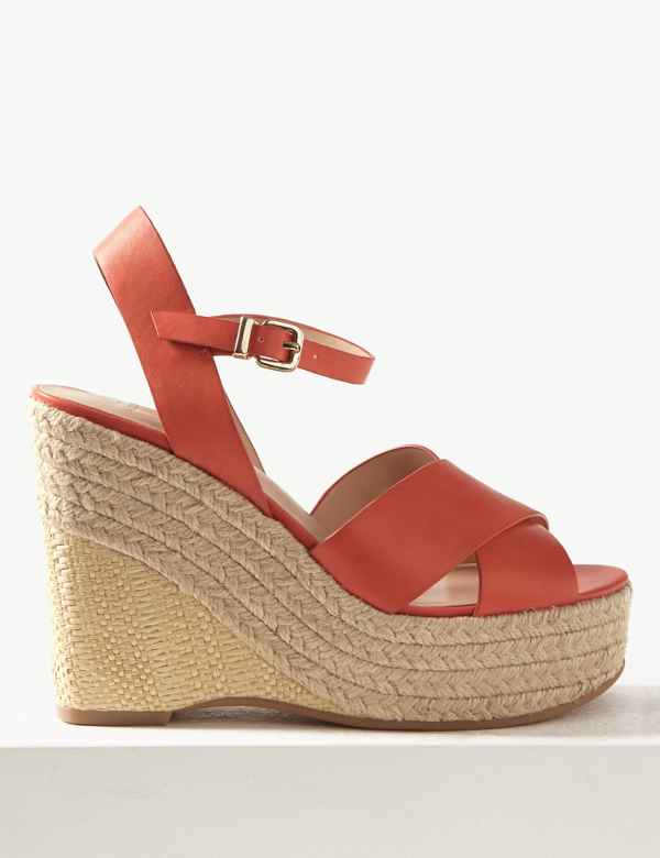 aaa9a87d90 Wedge Heel Espadrille Sandals. M&S Collection