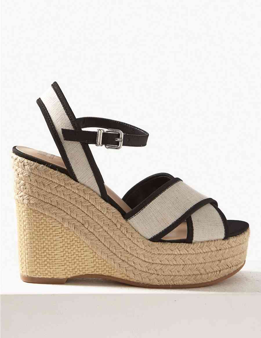 947a0e822945 Wedge Heel Crossover Espadrille Sandals