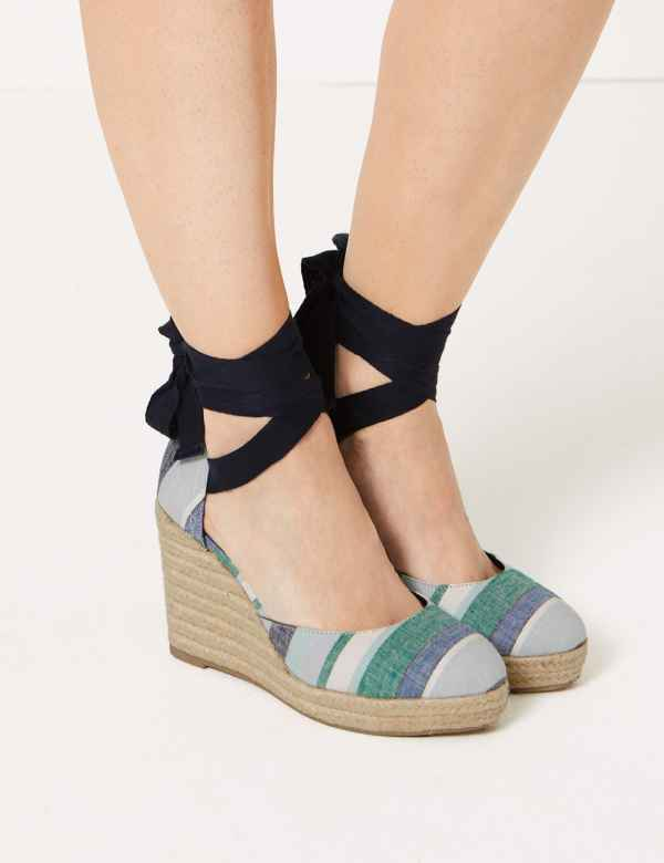 b29918eb2d59 Wedge Heel Espadrille Sandals. Online Only