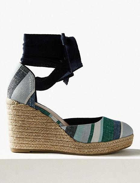 Wedge Heel Espadrille Sandals