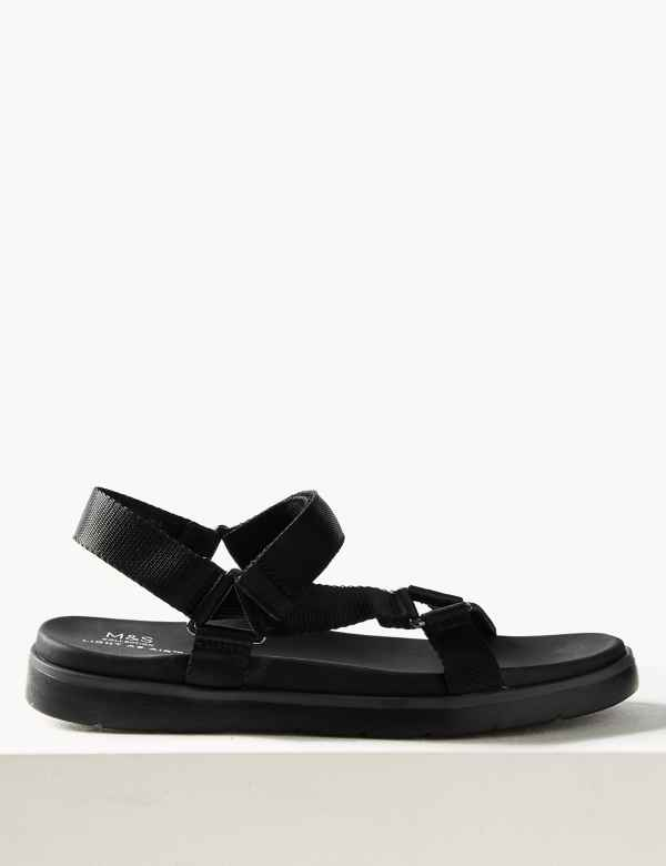 af473419087e Flatform Velcro Two Band Sandals
