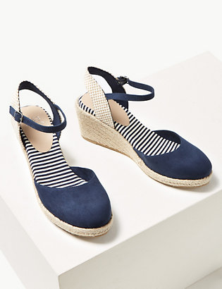 8c599a45605 Wedge Heel Almond Toe Espadrilles | All Shoes | Marks and Spencer IL
