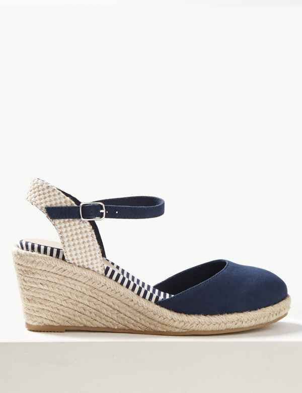 517910b5b19 Wedge Heel Almond Toe Espadrilles