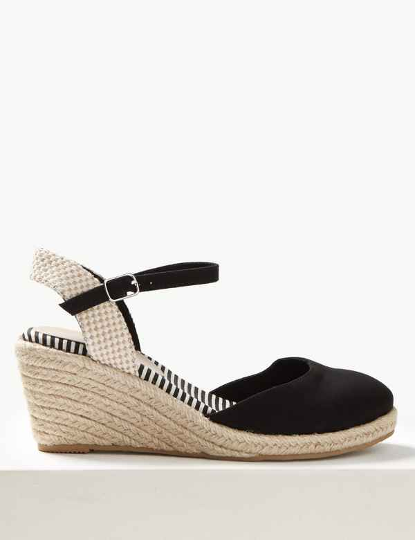 a1fc87c9b36 Wedge Heel Almond Toe Espadrilles. Online Only