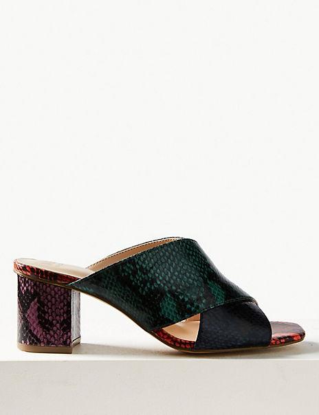 Animal Print Mule Sandals