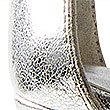 Stiletto Heel Ankle Strap Sandals, SILVER, swatch