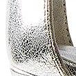 Sandalen met naaldhak en enkelbandje, ZILVER, swatch