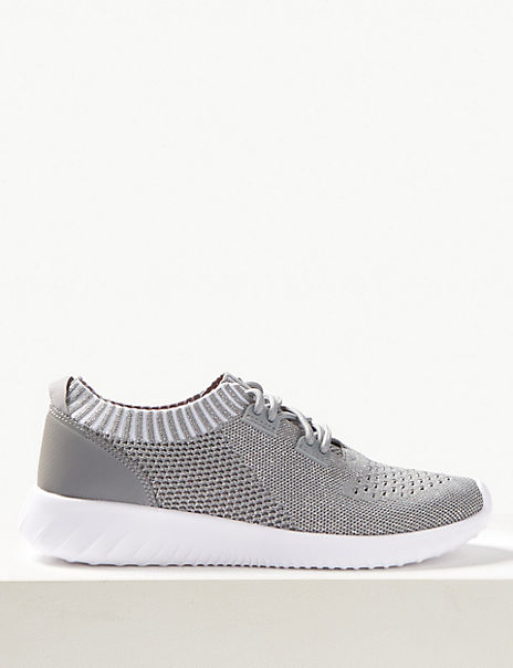 Mesh Lace-up Trainers