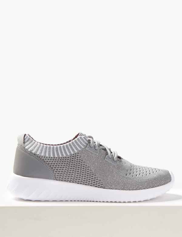 70f9922b1631 Mesh Lace-up Trainers