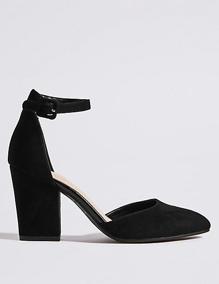 Product images. Skip Carousel. Block Heel Ankle Strap Court Shoes f420d872f