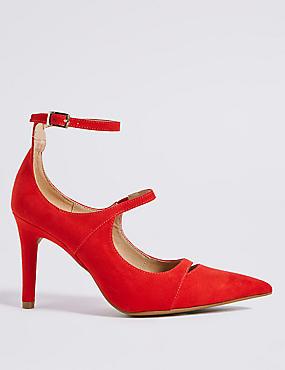 Stiletto Heel Strap Court Shoes
