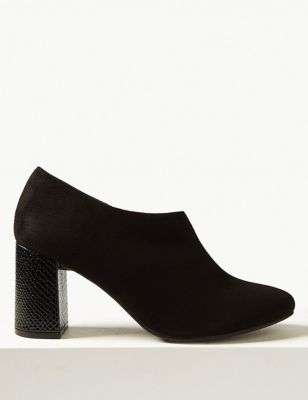 Block Heel Side Zip Shoe Boots With Insolia® by Marks & Spencer