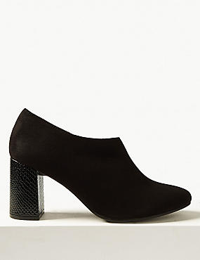 Block Heel Side Zip Shoe Boots with Insolia®