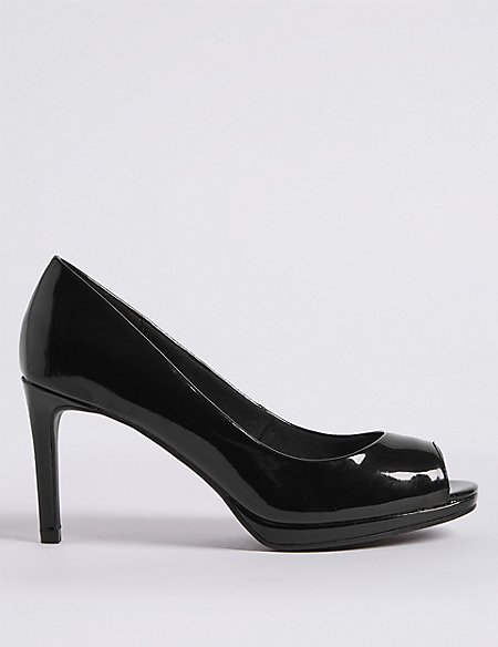 Stiletto Heel Platform Court Shoes