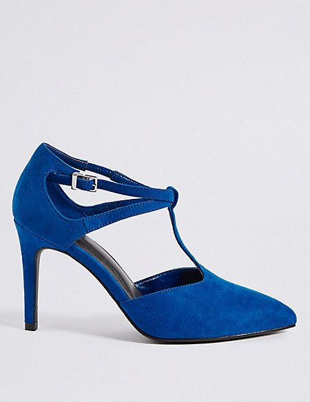 Stiletto Heel T-Bar Courts Shoes