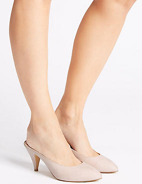 Almond Toe Mule Shoes