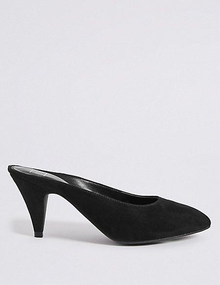 Almond Toe Mule Shoes