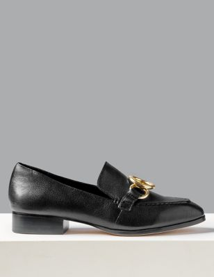 Leather Ring Detail Loafers by Marks & Spencer