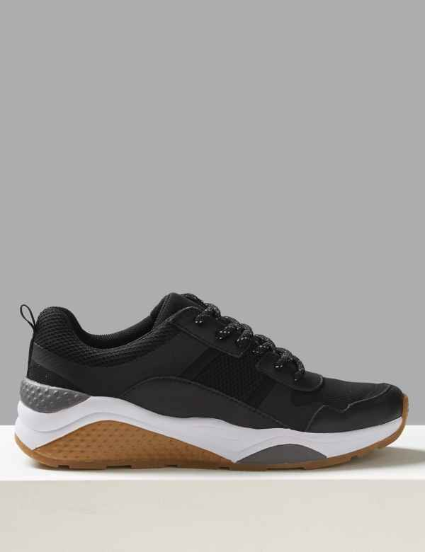 4013967498ffbd Leather Lace-up Trainers