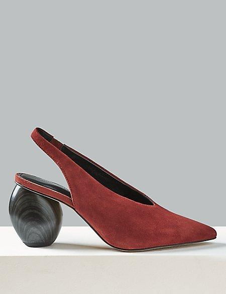 Suede Slingback Heels