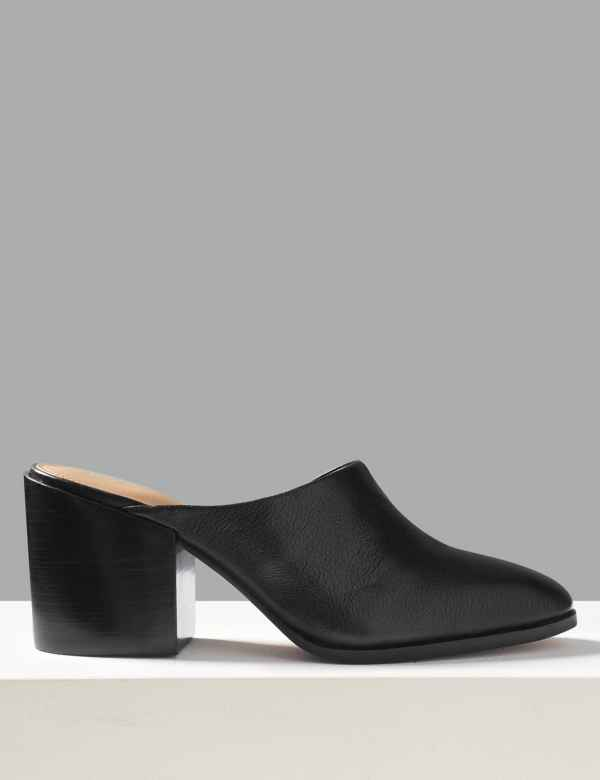 a525f085e81 Leather Asymmetric Mules. Online Only