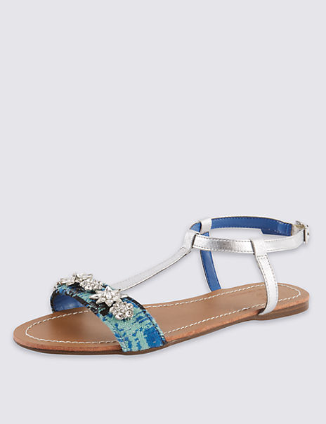 Jewel Weave Embellished Sandals with Insolia Flex®