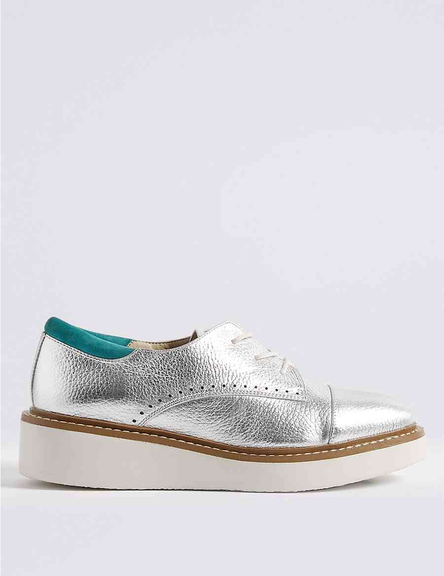 a6ff1c331f94 Leather Flatform Brogue Shoes