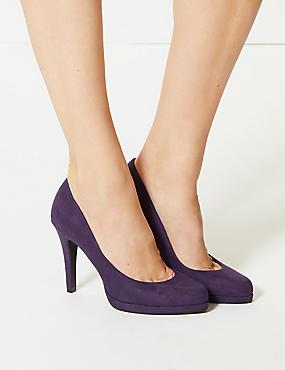 Stiletto Platform Court Shoes, BERRY, catlanding