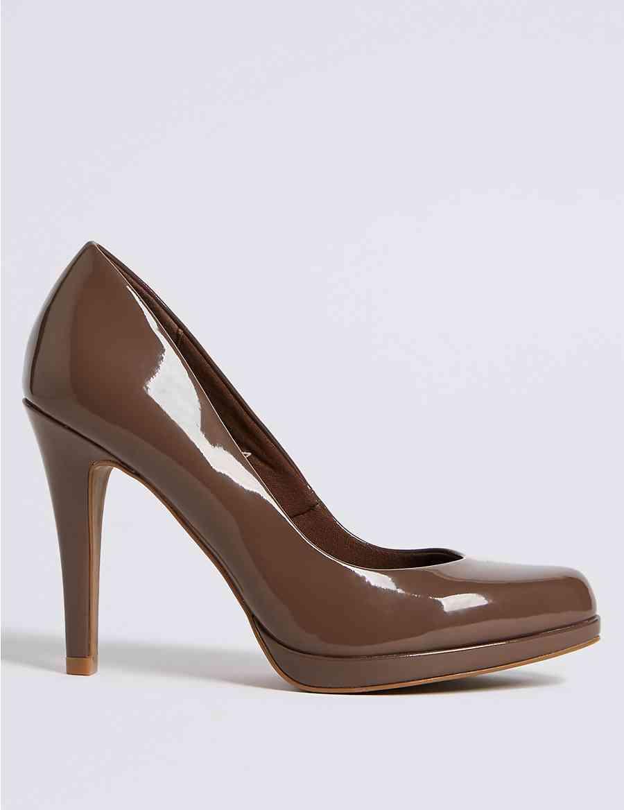 c844d9d3960 Stiletto Heel Platform Skin Tone Court Shoes