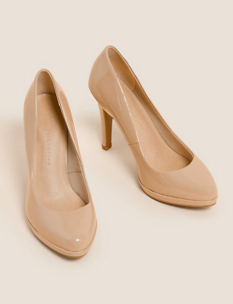 Patent Stiletto Heel Court Shoes