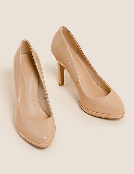Stiletto Platform Patent Court Shoes