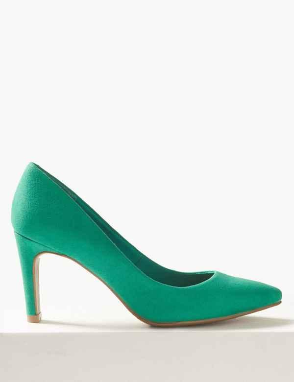 90abbd93b2b9 Stiletto Heel Pointed Court Shoes