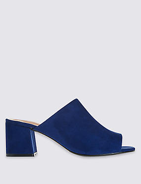 Block Heel Mule Shoes with Insolia®