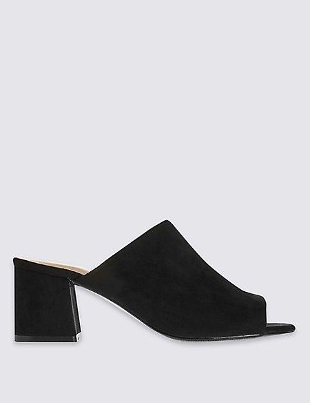 Block Heel Mule Shoes