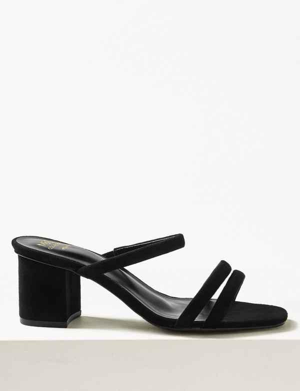 e445c415dd8f Wide Fit Multi Strap Mule Sandals