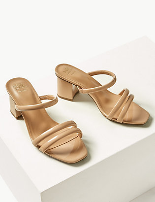 d63f1083d9ae Wide Fit Multi Strap Mules | All Shoes | Marks and Spencer IT