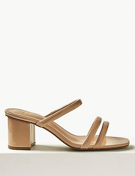 Wide Fit Multi Strap Mules
