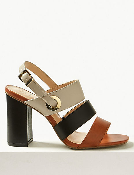 Wide Fit Multi Strap Slingback Sandals