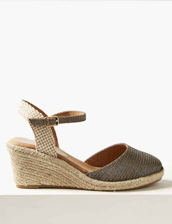 f6ab90d1049 Wide Fit Wedge Heel Espadrilles