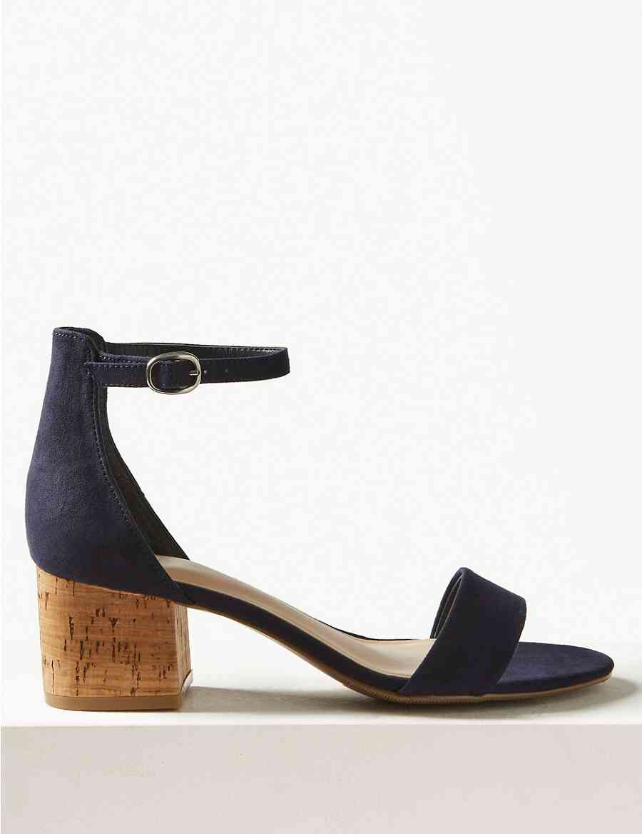 529ed667a6a1 Wide Fit Block Heel Two Part Sandals